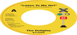 The Delights - Listen To Me Girl b/w Tearra - Just Loving You